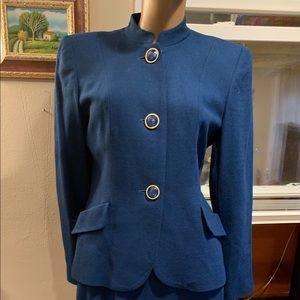 Vintage skirt suit /Harrison Kent blue 2 pc size 6